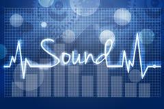 ondes sonores d'illustration graphique d'affichage Photo stock