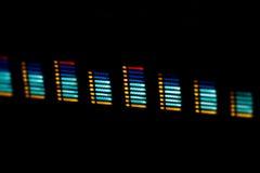 Ondes sonores de Digitals au-dessus de fond noir Photo libre de droits