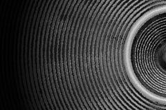 Ondes sonores de haut-parleur noir et blanc de musique Photos stock
