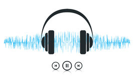 Ondes sonores de musique Photos libres de droits