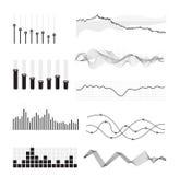 Ondes sonores de musique de vecteur Image stock