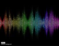 Ondes sonores de vecteur Égaliseur de Digital de musique Photos libres de droits