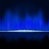 Ondes sonores oscillant sur le fond noir ENV 8 illustration de vecteur