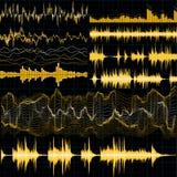 Ondes sonores réglées Fond de musique ENV 10 illustration de vecteur