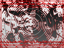 Ondes sonores rouges Photo stock