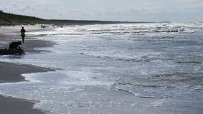 Ondes sur la plage. Images libres de droits
