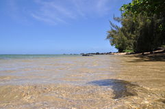 Ondes sur le sable 3 de plage Photographie stock