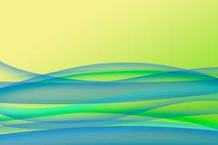 Ondes vertes bleues Images stock
