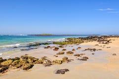 Ondiep strand - Port Fairy royalty-vrije stock foto's