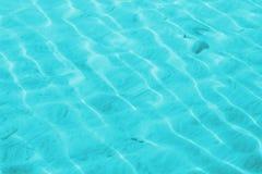 Ondiep waterturkoois Royalty-vrije Stock Fotografie