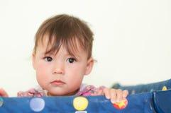 Ondiepe Diepte van de Leuke Baby van het Gebied Royalty-vrije Stock Foto