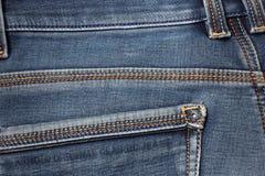 ondiepe DOF De textuur van jeans Fragment van jeansbroeken royalty-vrije stock afbeelding