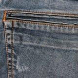 ondiepe DOF De textuur van jeans Fragment van jeansbroeken royalty-vrije stock foto's