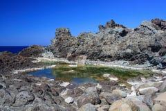 Ondine del delle di Laghetti, Pantelleria Fotografie Stock