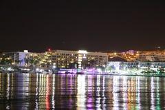 Ondinha da noite na baía Fotos de Stock Royalty Free