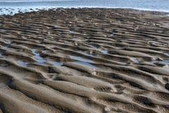 Ondinhas da areia - arte da natureza Imagens de Stock