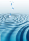 Ondinhas da gota da água Foto de Stock