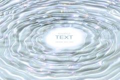 Ondinhas da água na água sparkling Fotografia de Stock Royalty Free