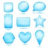 Ondoorzichtige blauwe glasvormen royalty-vrije illustratie