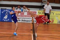 Ondrej Cibulka e Jakub Medek - futnet Fotografia Stock Libera da Diritti