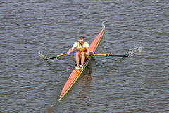 Ondrej Synek - 98.a raza del rowing de Primatorky Foto de archivo