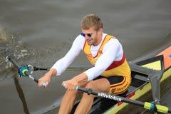 Ondrej Synek en concurrence d'aviron Photos libres de droits