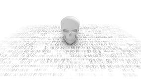 Ondsint datorkod datavirus Smitta databasen och serverorna royaltyfri illustrationer