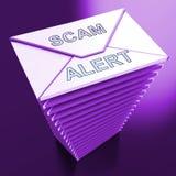 Ondsint tolkning för EmailsskräppostMalware varning 3d Arkivbild