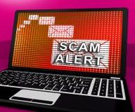 Ondsint tolkning för EmailsskräppostMalware varning 3d Royaltyfria Bilder