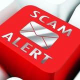 Ondsint tolkning för EmailsskräppostMalware varning 3d Fotografering för Bildbyråer