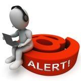 Ondsint tolkning för EmailsskräppostMalware varning 3d Royaltyfria Foton