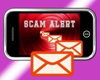 Ondsint tolkning för EmailsskräppostMalware varning 3d Arkivfoton
