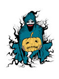 Ondska av halloween Arkivbild