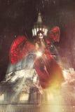 Ondska på Vaticanen Änglar och demoner Natt och mörker royaltyfri illustrationer