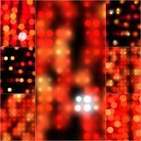 Onduidelijk beeld abstract bokeh effect als achtergrond in rode kleur Vaag licht in uitstekende retro toon Onscherpe bokehcirkels Stock Afbeelding