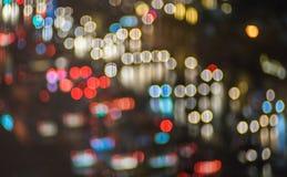 Onduidelijk beeld bokeh met kleurrijke lichtenachtergrond Royalty-vrije Stock Fotografie