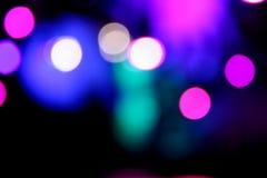 Onduidelijk beeld en lichten in de nacht Royalty-vrije Stock Foto