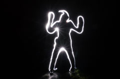 Onduidelijk beeld het menselijke begin dansen Royalty-vrije Stock Afbeelding