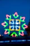 Onduidelijk beeld Kleurrijke bokeh bij tempel in Thailand Royalty-vrije Stock Foto