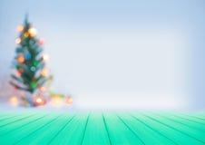 Onduidelijk beeld Mooie decoratieve Kerstboom Royalty-vrije Stock Foto