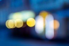 Onduidelijk beeld van een blauwe kubieke stadsvormen Royalty-vrije Stock Fotografie