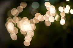 Onduidelijk beeld van verlichting op tree3 Stock Afbeelding