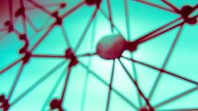 Onduidelijk beeldachtergrond van de verbinding van het gebiednetwerk Stock Afbeeldingen