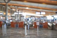 Onduidelijk beeldachtergrond van luchthaven Stock Foto