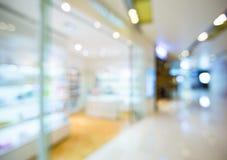 Onduidelijk beeldmening van Winkelcomplex stock foto