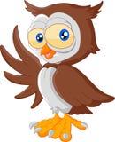 Ondulação bonito dos desenhos animados da coruja Imagem de Stock Royalty Free