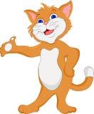 Ondulação bonito dos desenhos animados do gato Fotografia de Stock