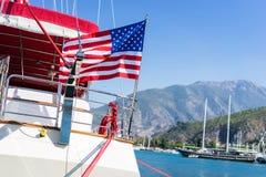 Ondulação da bandeira americana Fotografia de Stock