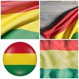 Ondulação da bandeira de Bolívia Imagens de Stock Royalty Free