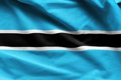 Ondulação da bandeira de Botswana Imagens de Stock